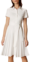 Karen Millen Pleated Shirt Dress, White
