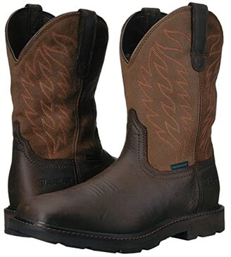 Ariat Groundbreaker Wide Square Toe H2O (Dark Brown) Cowboy Boots