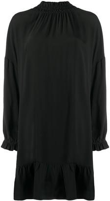 Semi-Couture High Neck Ruffle Dress