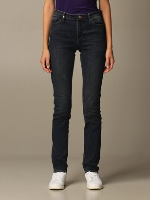 Armani Exchange Used Stretch Denim With Regular High Waist Leg