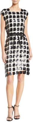 Emporio Armani Sleeveless Embroidered Macrame Dress