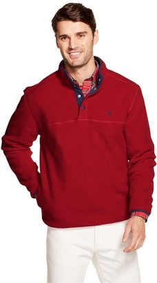 Izod Men's Sportswear Snap-Front Pullover Fleece