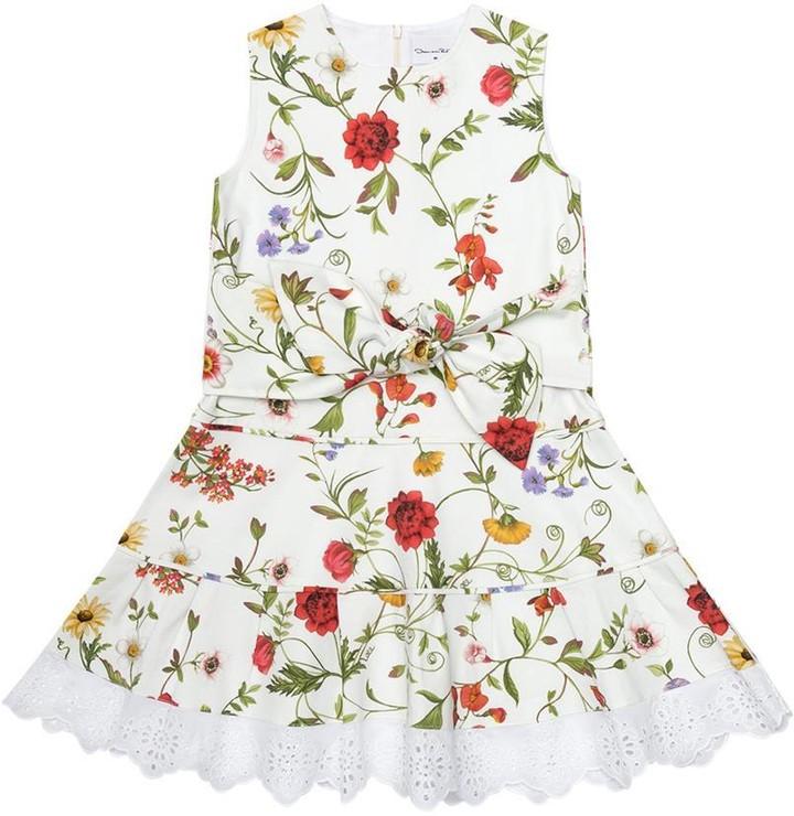 Oscar de la Renta Tied Dress