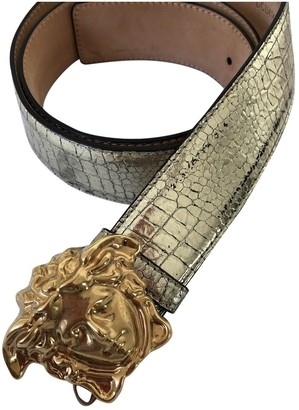 Versace Gold Leather Belts