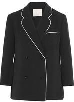 Tibi Spectator Silk-Trimmed Woven Blazer