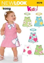 New Look 6576 Size A Babies Dresses Sewing Pattern, Multi-Colour