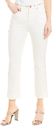 Weekend Max Mara Natural White Cropped Cigarette Leg