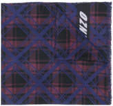 Kenzo check patterned scarf