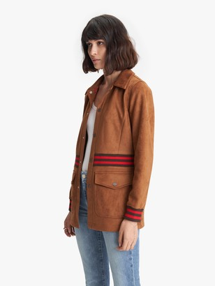 Mother The Ribbed Car Coat - Mean Streets