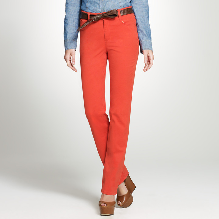 "Jones New York The Straight Leg Colored Jean with 32"" Inseam"