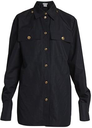 Givenchy Logo-Button Cotton Shirt