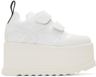Stella McCartney White Eclypse Platform Sneakers