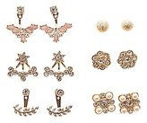 Charlotte Russe Embellished Ear Jacket & Stud Earrings Set