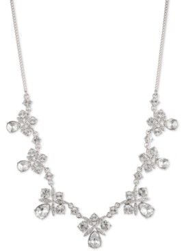 """Givenchy Crystal Cluster Statement Necklace, 16"""" + 3"""" extender"""
