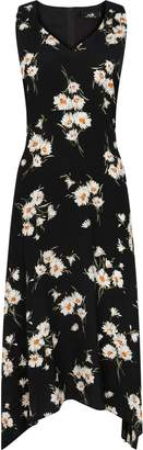 Wallis **TALL Black Daisy Print Midi Dress