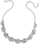 Charter Club Silver-Tone Crystal Cluster Collar Necklace, Created for Macy's