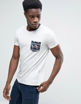 Esprit Crew Neck T-shirt With Printed Pocket Detail