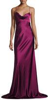 Diane von Furstenberg Sleeveless Cowl-Neck Satin Gown