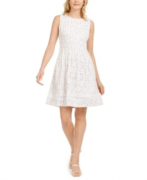 Jessica Howard Lace Fit & Flare Dress