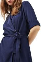 Topshop Women's Dot Jacquard Wrap Dress