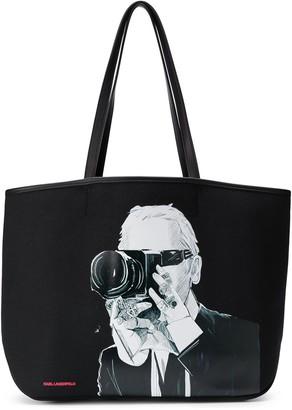 Karl Lagerfeld Paris Legend photographer tote bag