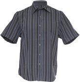 Ben Smith Mens Short Sleeve Striped Shirt (Grey/Blue)