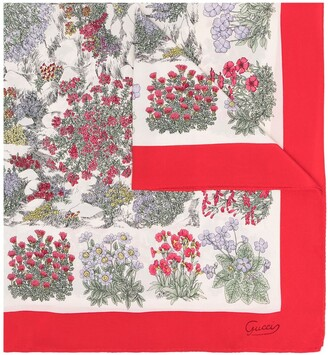 Gucci Pre-Owned Bouquet Printed Scarf