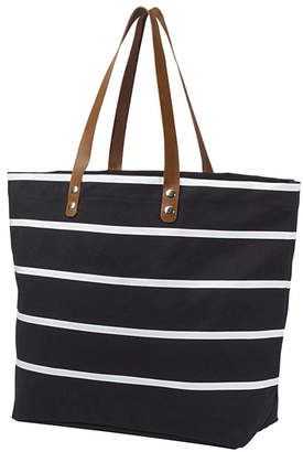 Cathy's Concepts Cathy Concepts Personalized Large Striped Tote