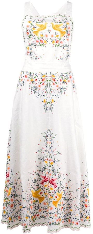 Zimmermann Carnaby embroidered midi dress