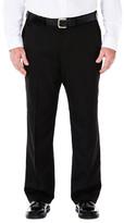 Haggar Big & Tall Cool 18 Pants - Classic Fit, Flat Front, Hidden Expandable Waistband