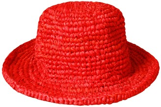Brunna.Co Kirana Raffia Boater Hat, In Red