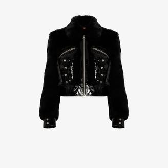 De La Vali Liam cropped faux fur jacket