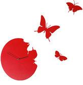 Diamantini Domeniconi Diamantini & Domeniconi Butterfly Clock Red