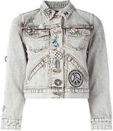 Marc Jacobs embellished shrunken denim jacket - women - Cotton - M