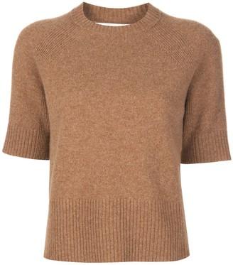 Victoria Beckham Half Raglan Sleeves Knitted Top