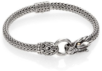 John Hardy Naga 18K Yellow Gold & Sterling Silver Dragon Station Chain Bracelet