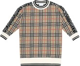 Thumbnail for your product : Burberry Children Checked merino wool dress