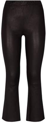 J Brand Leather Cropped Leggings