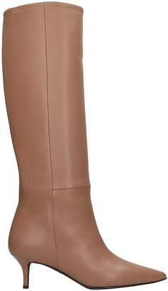 Marc Ellis Low Heels Boots In Taupe Leather