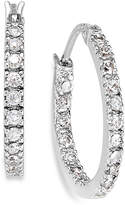 Giani Bernini Sterling Silver Earrings, Cubic Zirconia Hoop Earrings (3/4 ct. t.w.)
