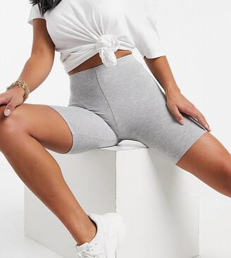 ASOS DESIGN Petite basic legging short in grey marl