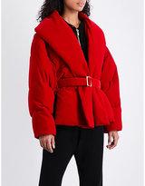 Alexandre Vauthier Padded velvet puffa jacket