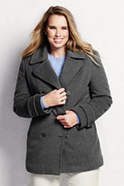 Classic Women's Plus Size Luxe Wool Insulated Peacoat-Medium Gray Heather