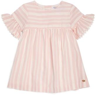 Tartine et Chocolat Stripe Crochet Trim Dress