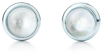 Tiffany & Co. Elsa Peretti Color by the Yard earrings in silver with rainbow moonstones