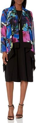 Tiana B T I A N A B. Women's Petite Floral Print Jacket Dress