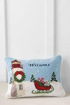 Lands' End 12 x 16 Needlepoint Lighthouse Decorative Pillow