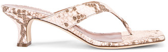 Paris Texas Faded Python Print 45 Thong Sandal in Faded Pink | FWRD