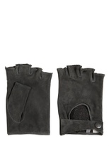 John Varvatos Fingerless Suede Gloves