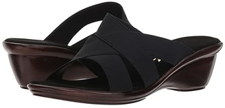 Onex Ariel-N (Black Elastic) Women's Sandals